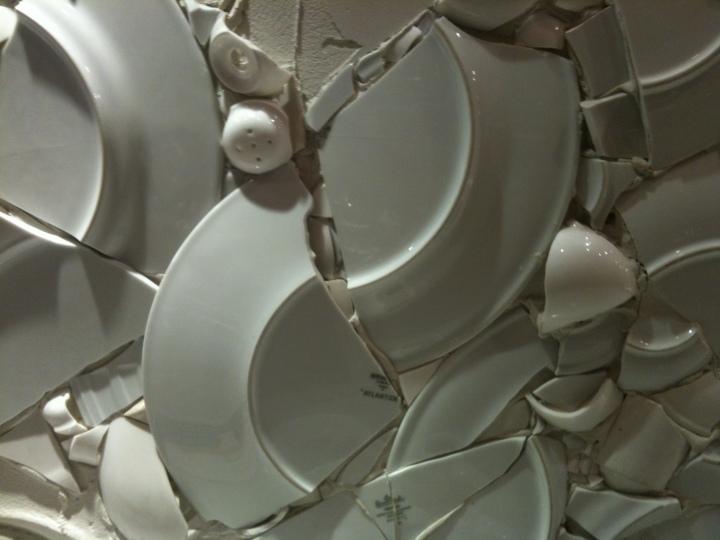 Broken plate wall