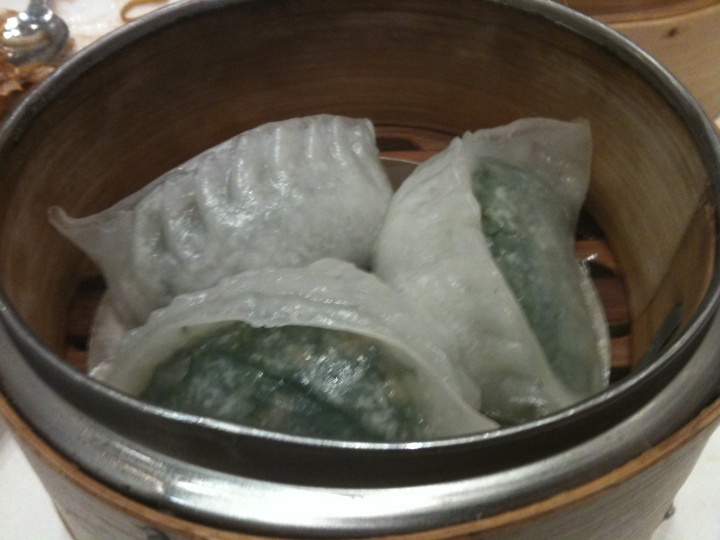 graceful steamed snow pea leaves dumplings